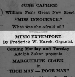 17 Aug 1918 - music extempore
