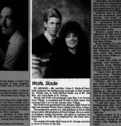 Wendy Ann Walts Engagement - The Daily Spectrum (Saint George, UT) - 30 Apr 1987