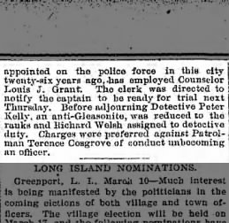 Brooklyn Daily Eagle - March 10, 1896 Terence Cosgrove -- part 2