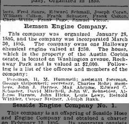 Caspar Steiner part of the Remsen Engine Company