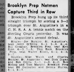 Ken Zino, Tennis, St Augustine's (3 May 1941)