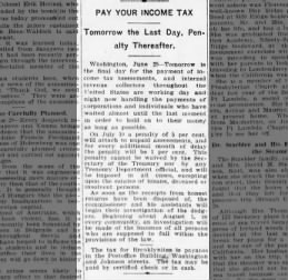 PAY YOUR INCOME TAX