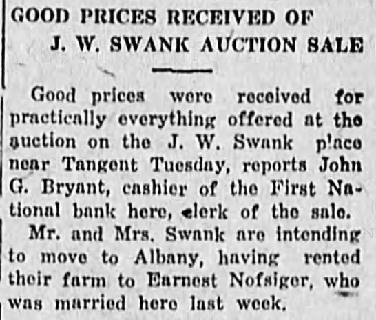 1922-9-21 Auction at Swank farm