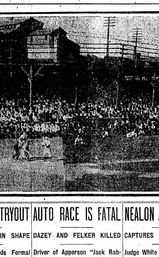 Washington Park Photo showing interior view during game Indians vs Louisville, Sept. 2, 1907