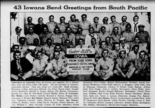 Greetings from the South Pacific, 1944