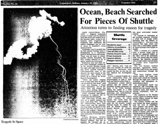 """Tragedy In Space"" 27 years ago today."