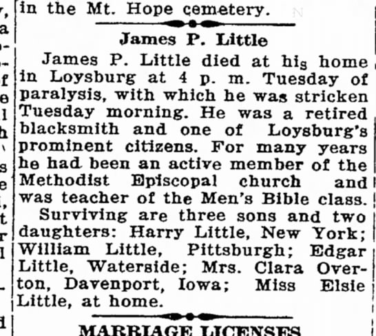 James P. Little, Obit