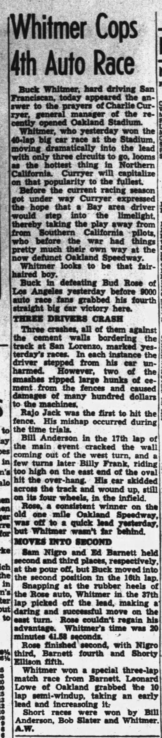 Raced July 14, 1946