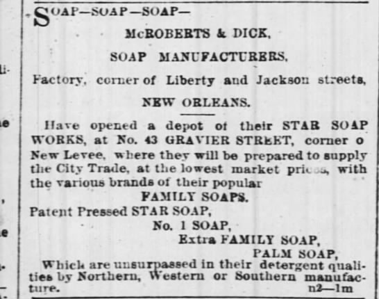 McRoberts & Dick Soap NOLA