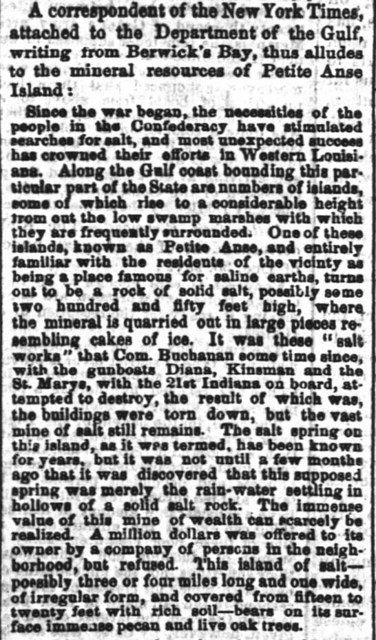 The Times-Picayune (New Orleans) January 15, 1863