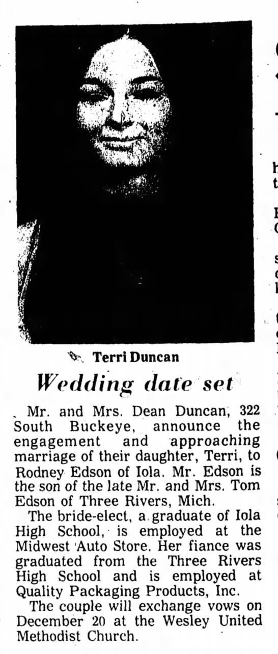 Terri Duncan - Engagement