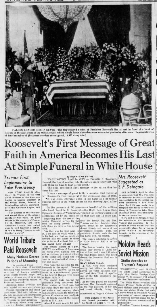 Roosevelt's funeral