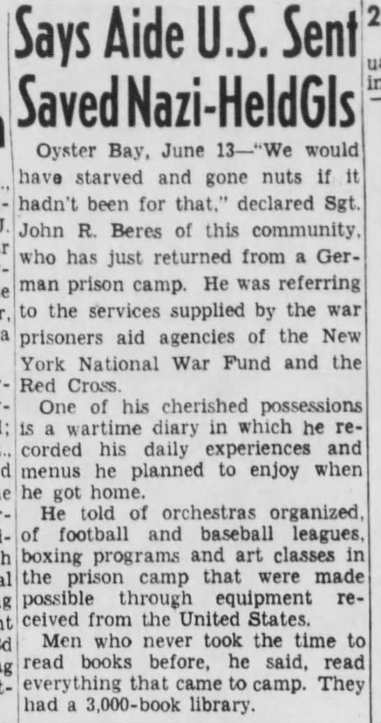 Nazi prisoner of Oyster Bay released