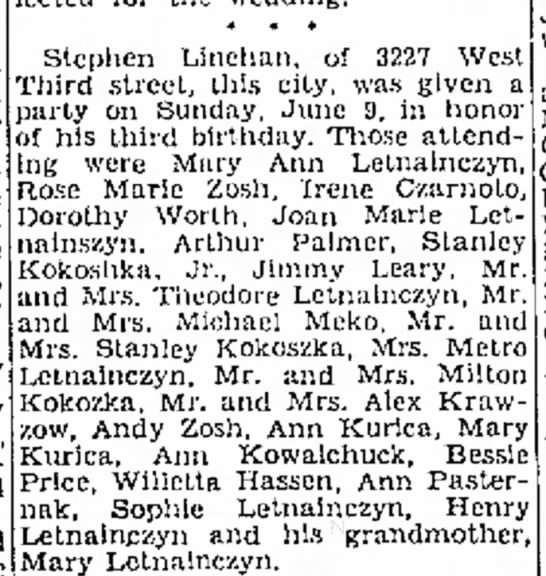 Ann and Mary Kurica go to a party - 12 June 1946