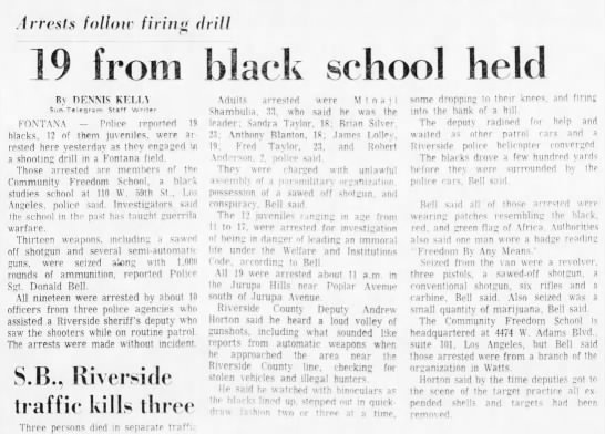 San Bernardino County Sun, Monday, January 21, 1974, B15.