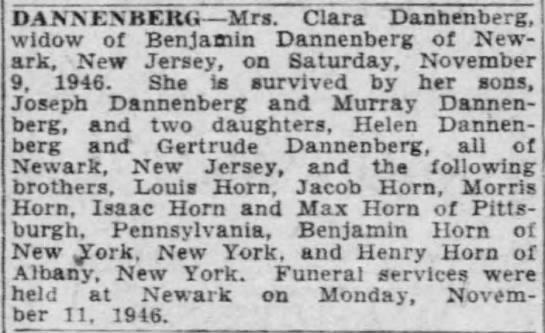 Clara Horn Obituary