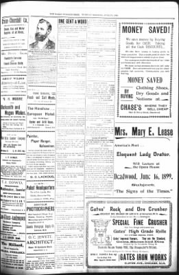 The Daily Deadwood Pioneer-Times from Deadwood, South Dakota on June 13, 1899 · Page 3