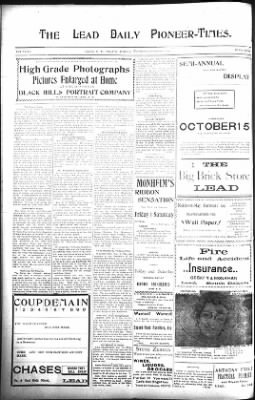 The Lead Daily Pioneer-Times from Lead, South Dakota on November 7, 1900 · Page 6