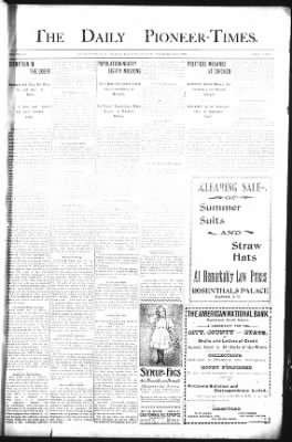 The Daily Deadwood Pioneer-Times from Deadwood, South Dakota on September 1, 1900 · Page 1