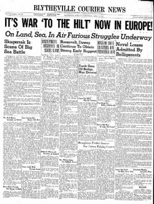 The Courier News from Blytheville, Arkansas on April 10, 1940 · Page 1