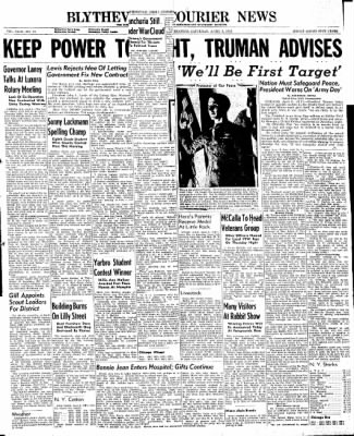 The Courier News from Blytheville, Arkansas on April 6, 1946 · Page 1