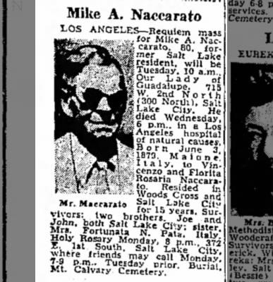 Mike Naccarato Obituary