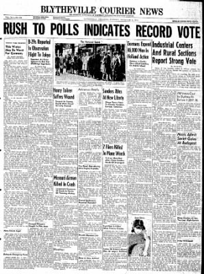 The Courier News from Blytheville, Arkansas on November 7, 1944 · Page 1
