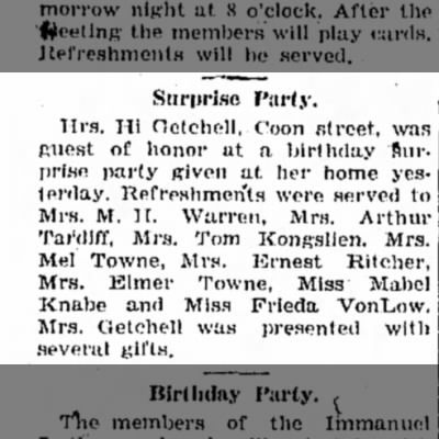 Party Esther Towne 1931