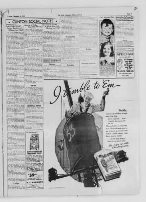 The Daily Clintonian from Clinton, Indiana on December 8, 1936 · Page 3
