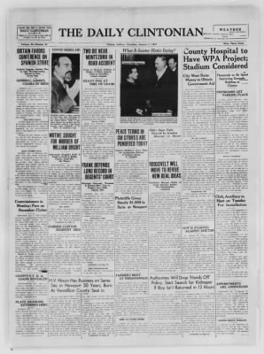 The Daily Clintonian from Clinton, Indiana on January 7, 1937 · Page 1