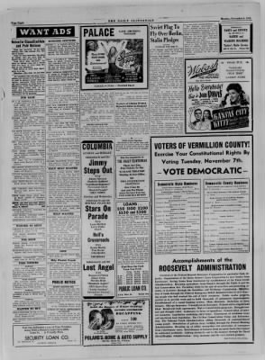 The Daily Clintonian from Clinton, Indiana on November 6, 1944 · Page 8