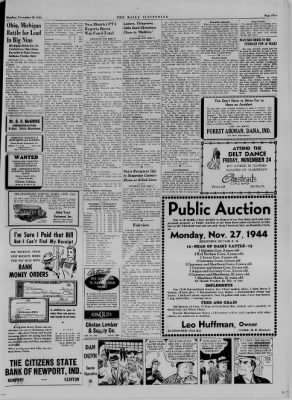 The Daily Clintonian from Clinton, Indiana on November 20, 1944 · Page 5