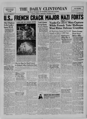 The Daily Clintonian from Clinton, Indiana on November 22, 1944 · Page 1