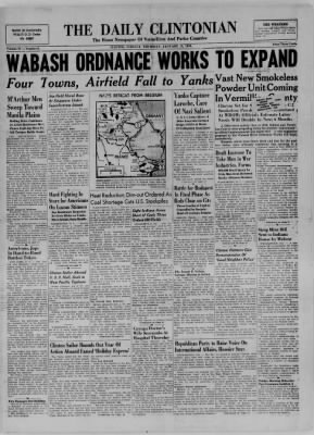 The Daily Clintonian from Clinton, Indiana on January 11, 1945 · Page 1