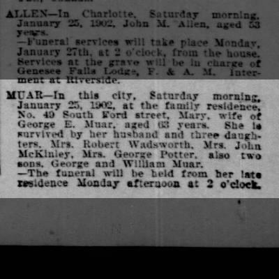 Democrat and Chronicle (Rochester, NY) 26 Jan 1902, Sunday