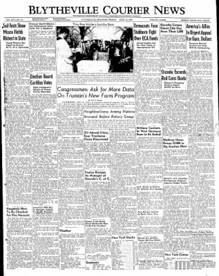 The Courier News from Blytheville, Arkansas on April 8, 1949 · Page 1