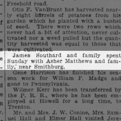 James southard with Asher Matthews Oct 4th 1917
