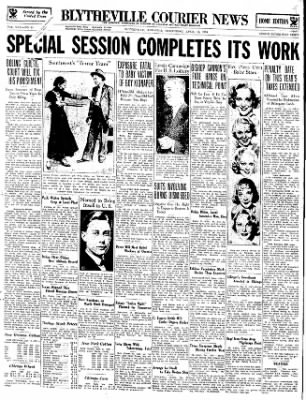 The Courier News from Blytheville, Arkansas on April 11, 1934 · Page 1