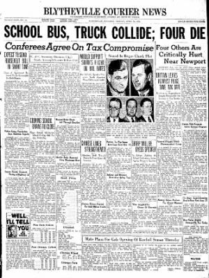 The Courier News from Blytheville, Arkansas on April 26, 1938 · Page 1
