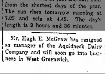 Hugh E. McGraw: 1/20/1923