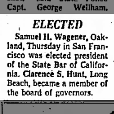 SHW elected 9/20/1963