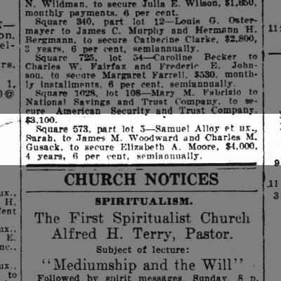 Samuel Alloy Deed of Trust 5/29/1920 Wash Post