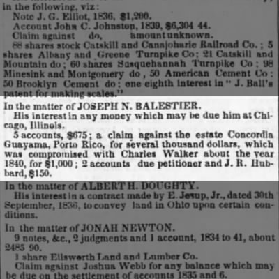 Guayama claims of Balestier against Concordia Estate Oct 1845