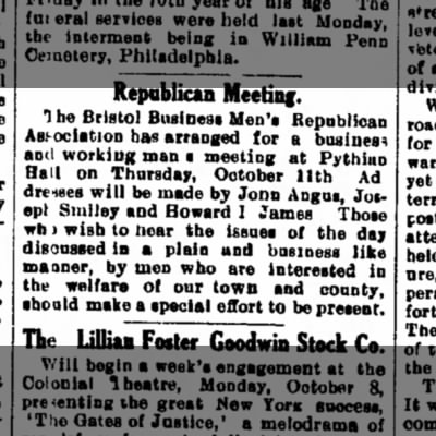 Bristol Business Men's Republican Association 10.5.1906 BCG