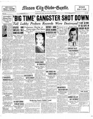 The Mason City Globe-Gazette from Mason City, Iowa on July 18, 1935 · Page 1