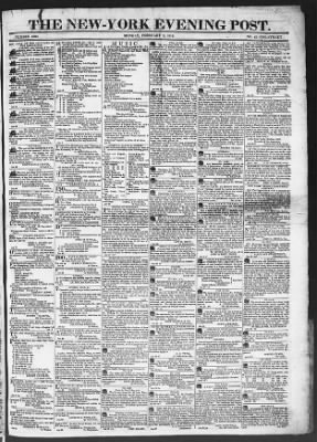The Evening Post from New York, New York on February 2, 1818 · Page 1