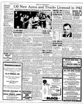 The Mason City Globe-Gazette from Mason City, Iowa on January 14, 1943 · Page 6