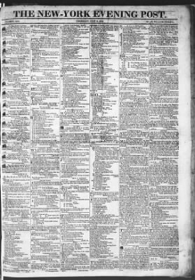 The Evening Post from New York, New York on July 9, 1818 · Page 1