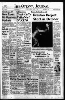 The Ottawa Journal from Ottawa,  on August 18, 1964 · Page 1