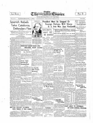The Daily Courier from Connellsville, Pennsylvania on February 6, 1939 · Page 1